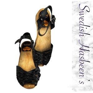 Wood clog sandals
